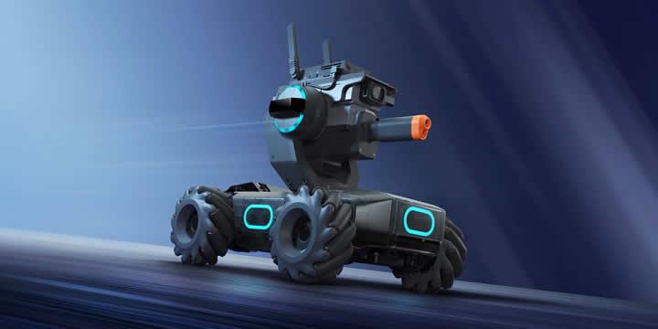 RoboMaster S1は、楽しみながら本気で学べる教育向け高機能ロボットです。S1は、拍手、ゼスチャー、対戦相手からの攻撃など検知できるセンサーを備え、強力なCPUと高度な構成部品を数多く搭載し、最新ロボット工学の感動を誰でも肌で感じる事が出来ます。