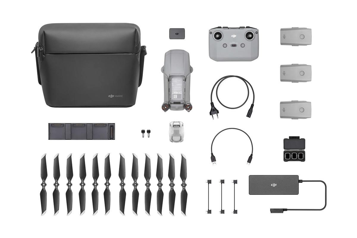 フライモアコンボ セットはNDフィルターセット、バッテリー充電ハブ、バッテリー パワーバンクアダプター、ショルダーバッグが付属しています!