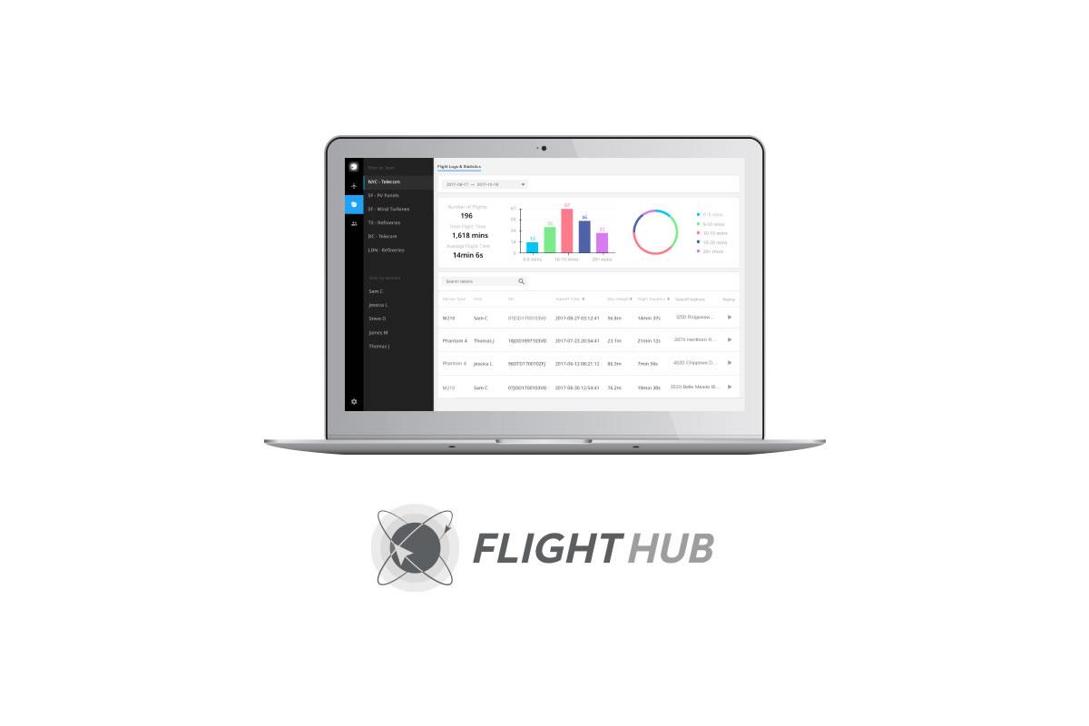 DJI FlightHubが業界初のウェブベースソリューションでドローンのオペレーションを管理します。ドローンオペレーションをライブ中継し、フライトデータのログを記録して、フリートを管理します。