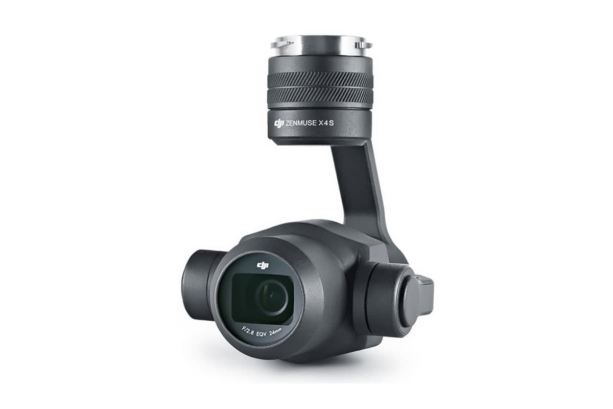 Zenmuse X4Sの画素数は2,000万画素。1インチセンサーを搭載し、最大感度はISO12,800のパワフルなカメラです。