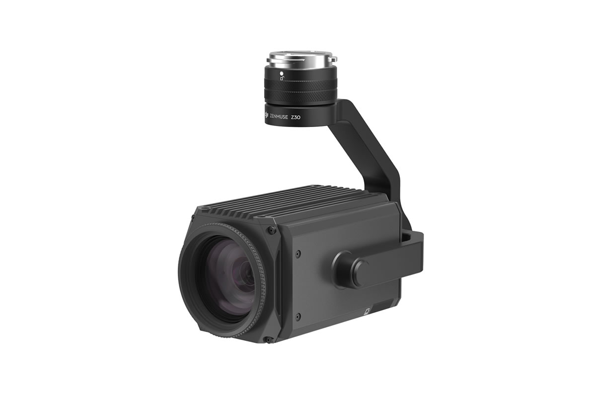 Zenmuse Z30は、30倍光学ズームと6倍デジタルズームを搭載した、総合倍率最大180倍の市場で最もパワフルな一体型空撮ズームカメラです。携帯電話基地局、風力タービン等、調査の対象がどのようなものであっても、その構造やワイヤー、モジュール、部品等を詳しく観察し、損傷や損害を検知します。